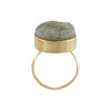 Golden Ring with Grey Stone