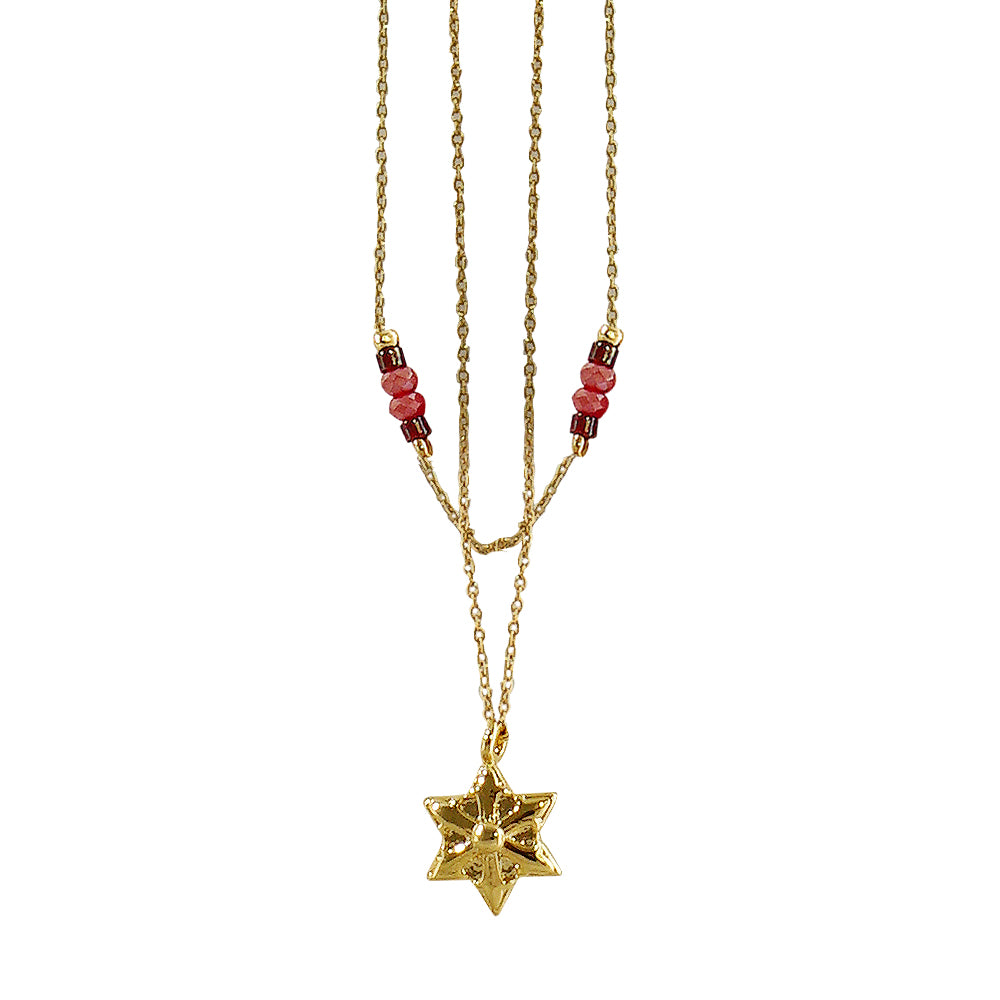 Double Necklace w/ Golden Star