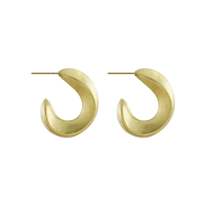 Scratched Golden Earrings