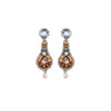 Golden Earrings w/ Quartz Stone