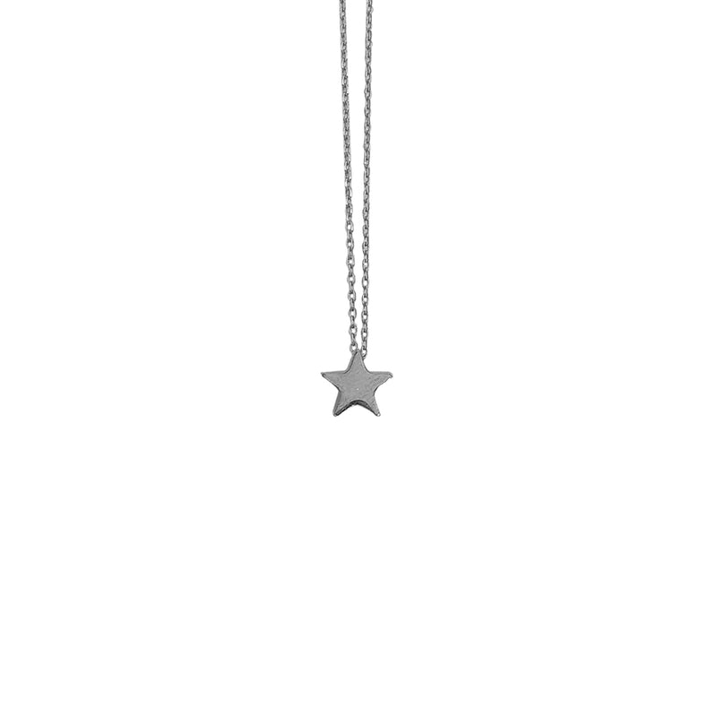 Silver Necklace w/ Star Pendant