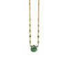 Golden Necklace w/ Green Stone
