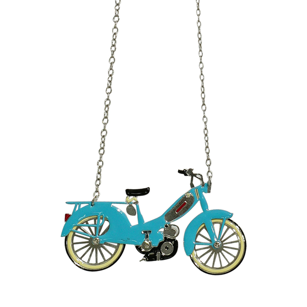 Blue Motorcycle Necklace