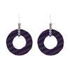 Black & Purple Fabric Earrings