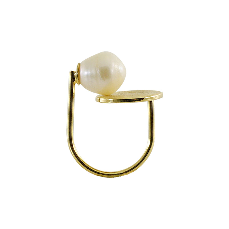 Golden Ring w/ Cultured Pearl
