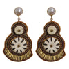 Brown & Beige Earrings