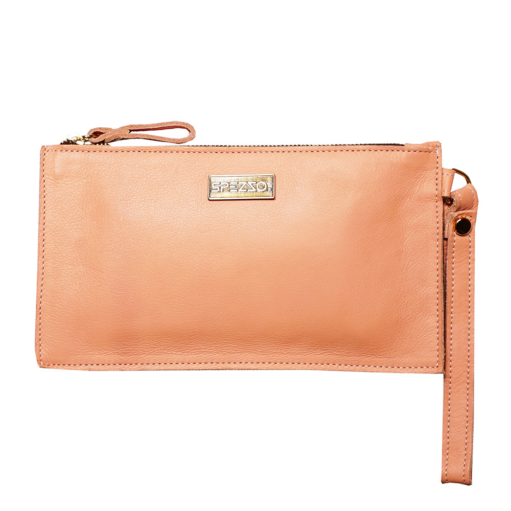 Salmon Leather Purse