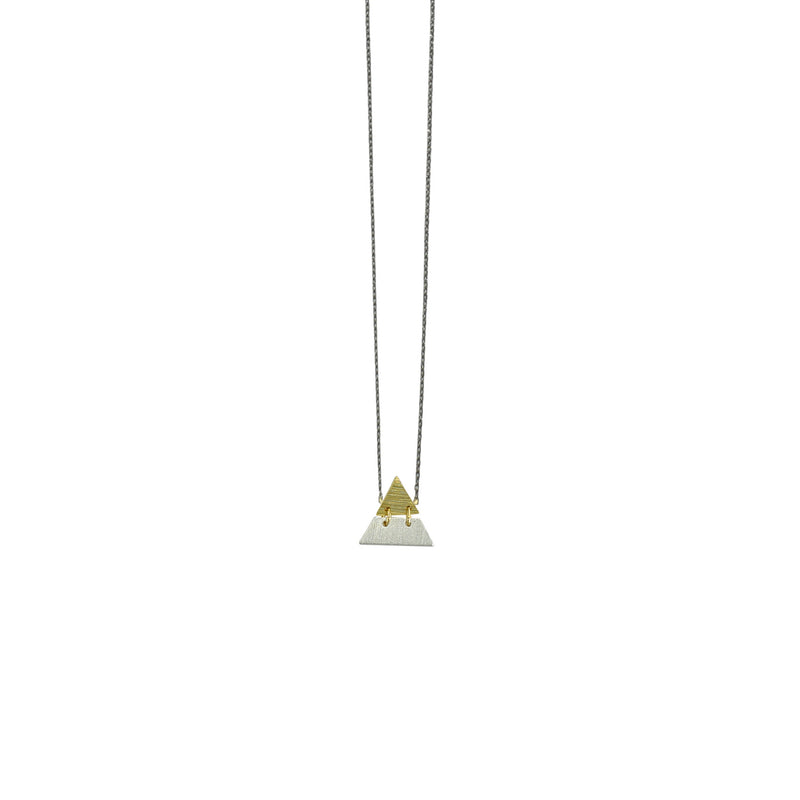 Gunmetal Necklace w/ Triangle Pendant