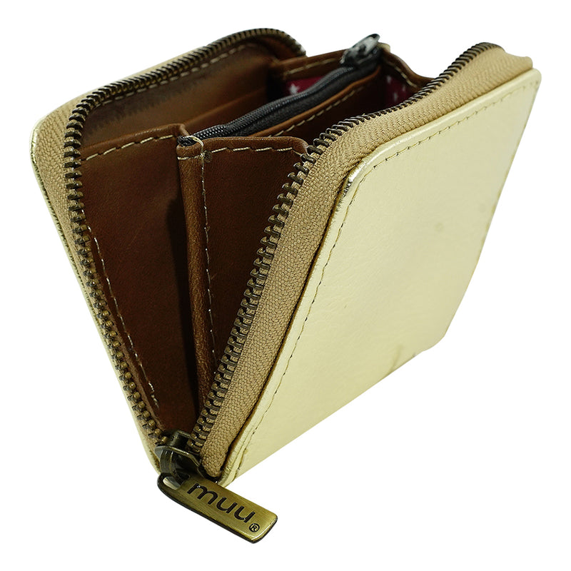 Golden Leather Wallet