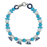 Blue & White Crystal Necklace