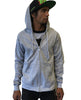 Create Clouds Zip Up Hoodie - Mens Gray