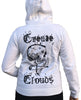 Womens Create Clouds Zip Up Hoodie - White