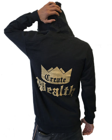 Create Wealth Zip Up - Mens Black