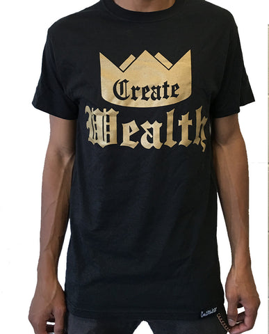 Create Wealth T - Black