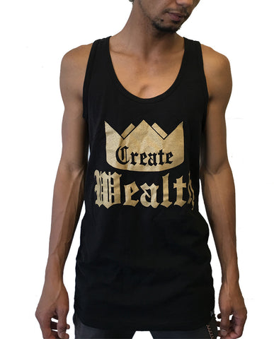 Create Wealth Tank - Mens Black