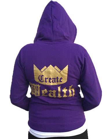 Womens Create Wealth Hoodie
