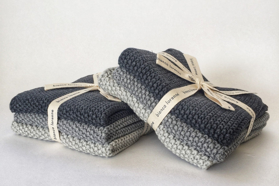 Knitted Wash Cloth Set - Gift Saint