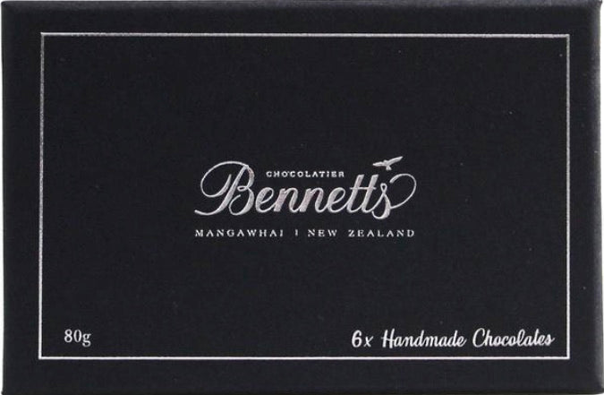 Bennetts of Mangawhai 6 Chocolate Selection