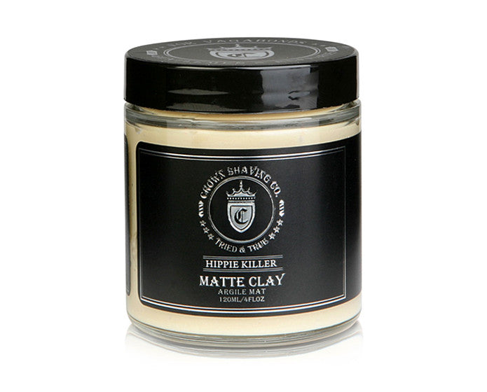 Crown Shaving Matte Styling Clay - 4 Ounce Jar, Pomade & Hair Products