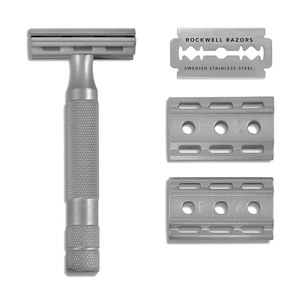 Rockwell Razors 6S Adjustable Stainless Steel Safety Razor, Double Edge Safety Razors