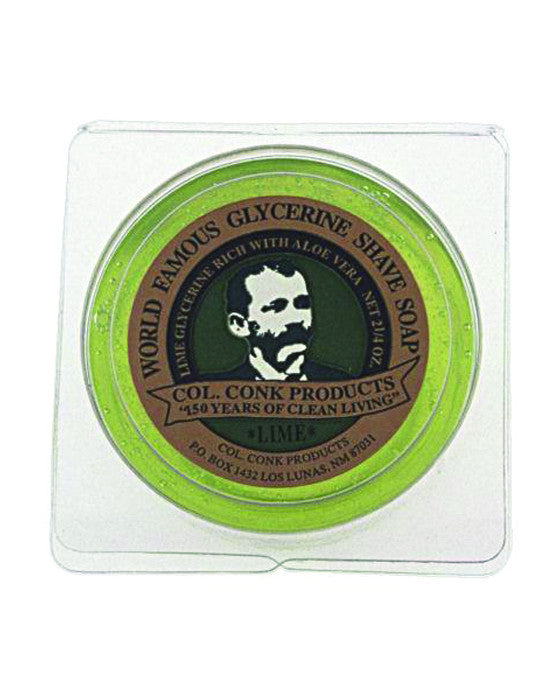 Colonel Conk Lime Glycerin Shave Soap (64g/2.25oz), Shave Soaps