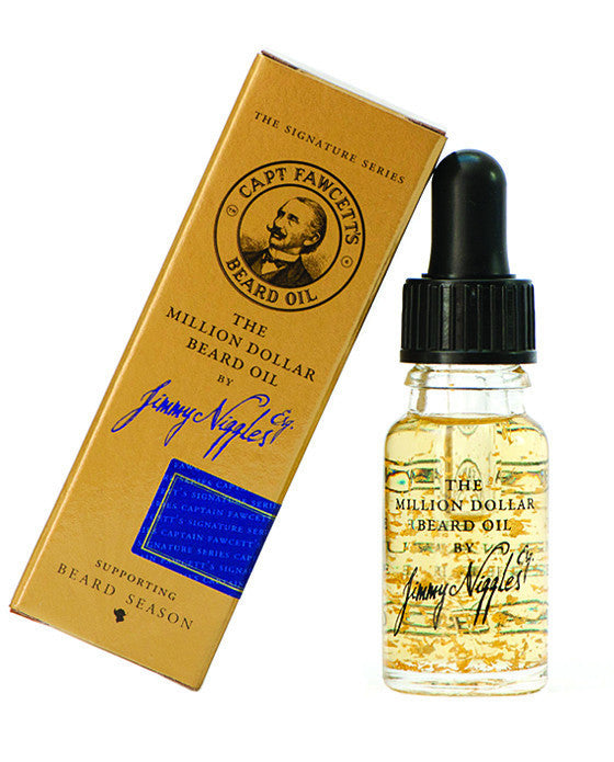 Captain Fawcett's The Million Dollar Beard Oil - Travel Size (10ml/0.33oz), Beard Care