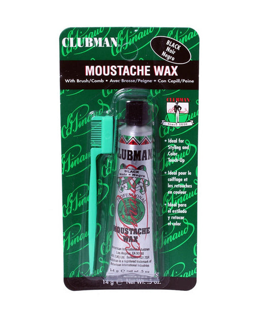 Clubman Moustache Wax Black - 14 grams / .5 Ounces, Mustache Wax