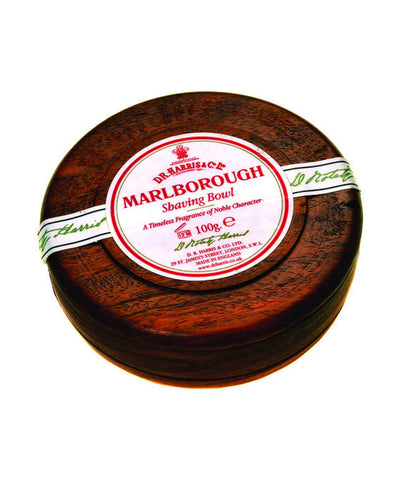 D.R. Harris Marlborough Shaving Soap In Mahogany Bowl (100g/3.5oz), Shave Soaps