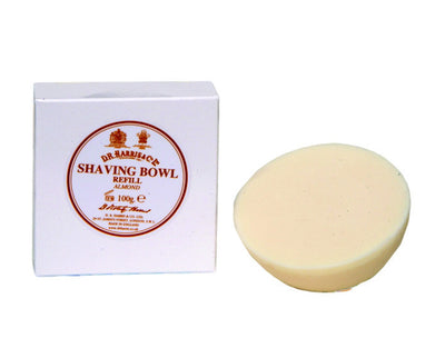 D.R. Harris Almond Shaving Soap Refill (100g/3.5oz), Shave Soaps