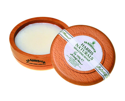 D.R. Harris Naturals Shaving Soap In Beechwood Bowl (100g/3.5oz), Shave Soaps