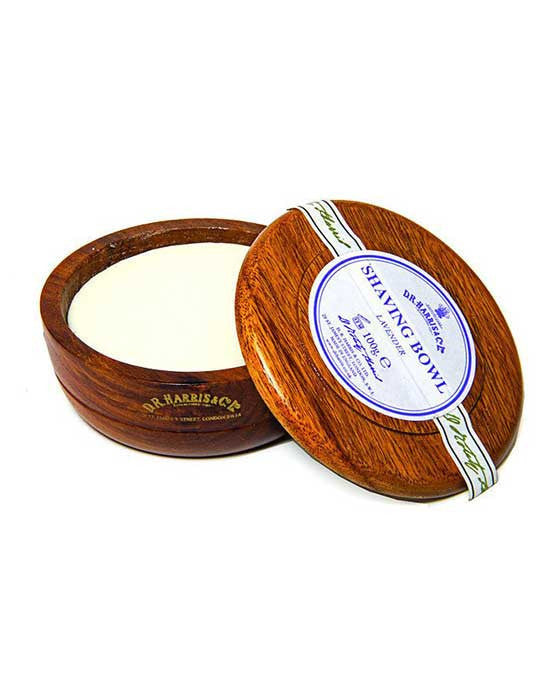 D.R. Harris Lavender Shaving Soap In Mahogany Bowl (100g/3.5oz), Shave Soaps