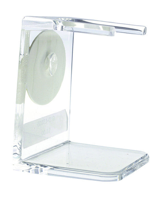 PureBadger Collection Shaving Brush Stand, Clear Acrylic, Standard Mouth,