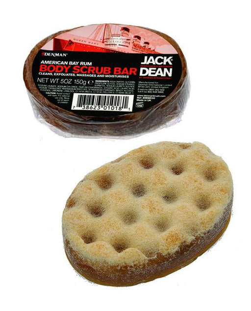 Jack Dean Bay Rum Body Scrub Bar (150g/5oz), Men's Bodycare