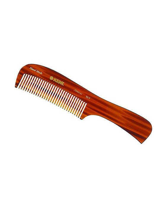 Kent K-10T  Comb, Large Handled Rake Comb, Coarse (190mm/7.5in), Hair Combs