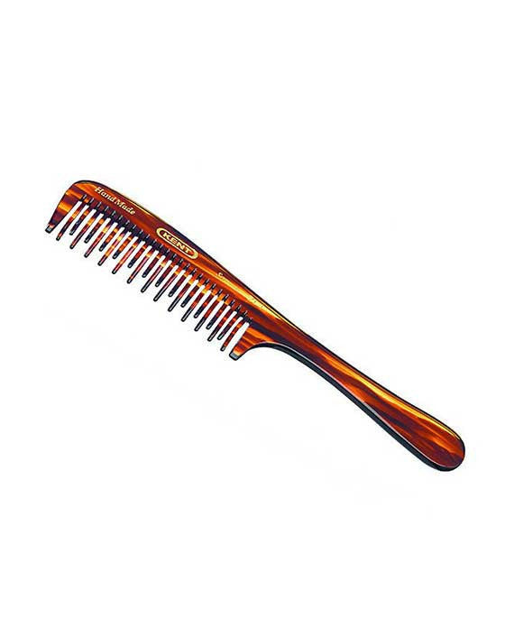 Kent K-21T Comb, Curved Double Row Detangling Comb (195mm/7.7in), Hair Combs