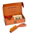 Kent Wooden Beard Brush (165mm/6.5in), Beard Brushes