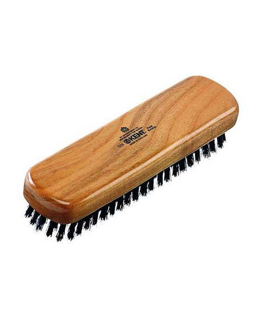 Kent K-CC2 Clothes Brush, Travel Size, Pure Black Bristle, Cherrywood, Clothes Brushes