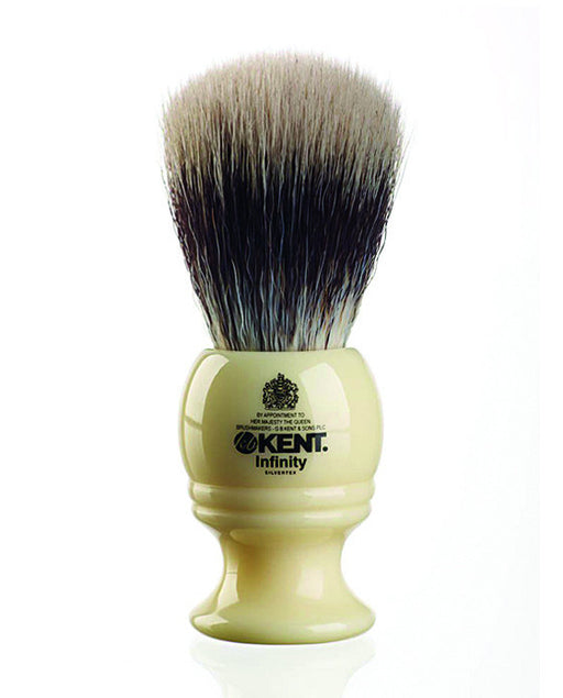 Kent K-INF1 'Infinity' Super Soft Silvertex, Synthetic Brush, Shaving Brushes