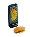 Kent Military Brush, Oval, Beechwood, Pure White Bristle Hairbrush, Hair Brushes