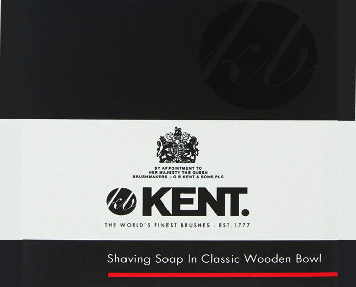 Kent Shaving Soap In Light Beechwood Shaving Bowl, Shave Soaps