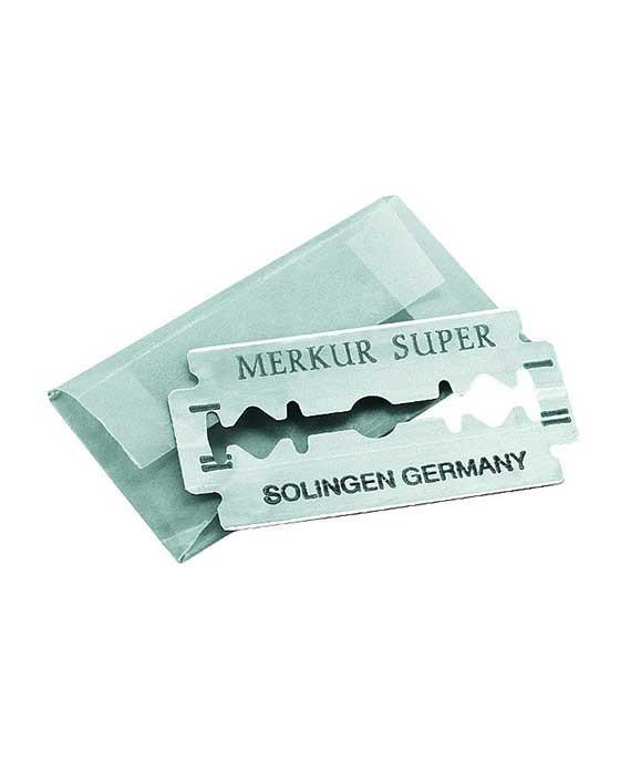 Merkur Super Platinum Double Edge Safety Razor Blades (Single Pack, 10 Blades/Pack), Razor Blades