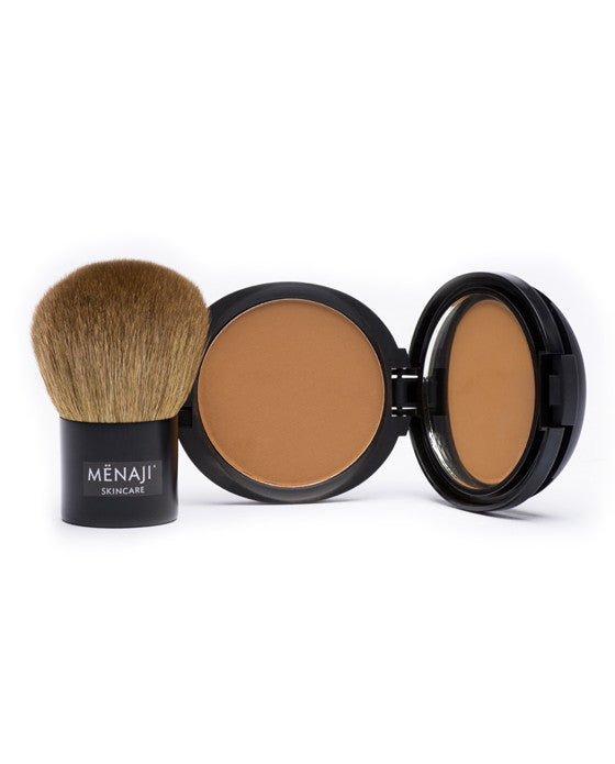 Menaji HDPV Anti-Shine Sunless Tan And Deluxe Kabuki Brush, Men's Skincare