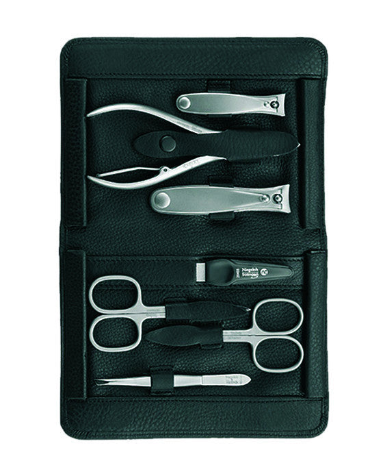Niegeloh Imantado XL 7pc Manicure Set In High Quality Leather Case, Manicure Sets