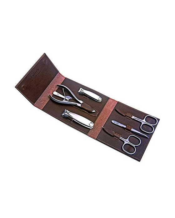Niegeloh Havana XL 7pc Manicure Set In High Quality Leather Case, Manicure Sets