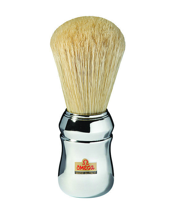 Omega Chrome Boar Bristle Shaving Brush, Shaving Brushes