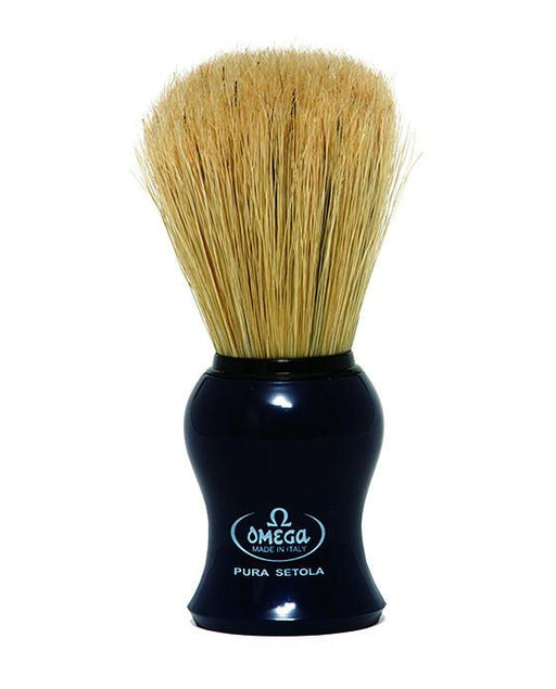 Omega Boar Bristle Shaving Brush, Black, Shaving Brushes