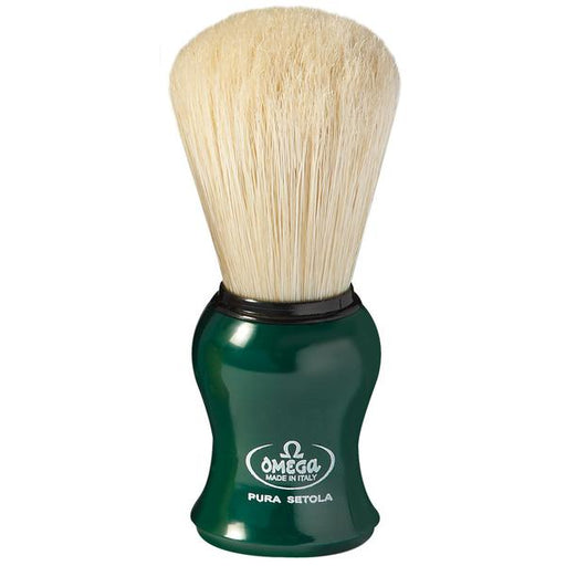 Omega Boar Bristle Shaving Brush, Green,
