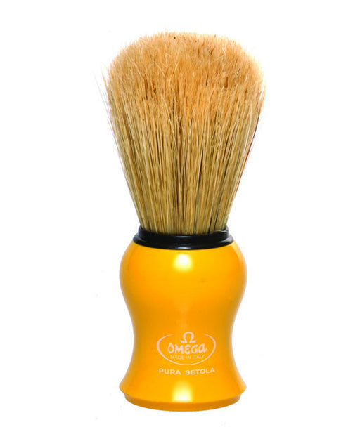 Omega Boar Bristle Shaving Brush, Yellow, Shaving Brushes