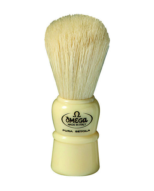 Omega 100% Boar bristle shaving brush, Plastic handle, Cream, Shaving Brushes