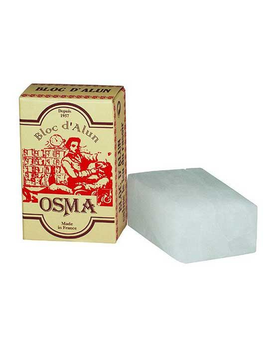 Osma Alum Block, (75g/2.6oz), Alums & Styptics, Alum Block for Nicks and Cuts from shaving